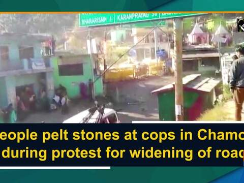 People pelt stones at cops in Chamoli during protest for widening of road