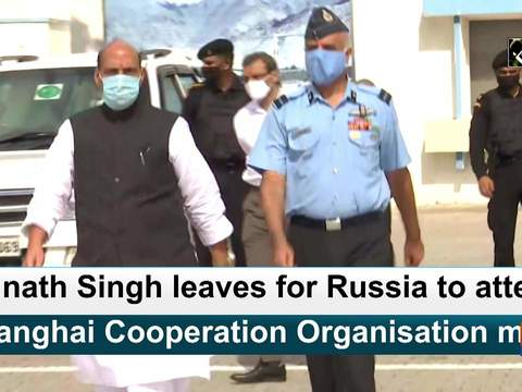 Rajnath Singh leaves for Russia to attend Shanghai Cooperation Organisation meet