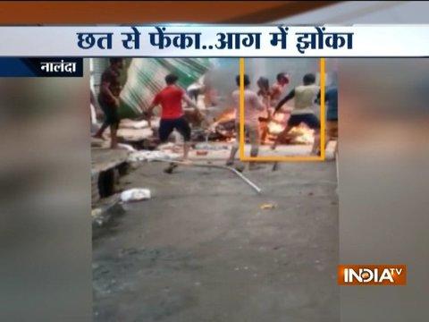 Mob throws murder accused off first-floor balcony in Bihar's Nalanda