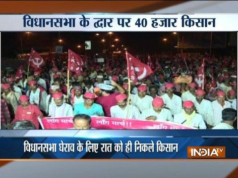 40,000 protesting farmers walk 180-kms to reach Mumbai, will lay siege to legislature today