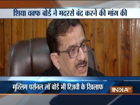 Muslim Leaders attacks Shia Waff Board chief over his 'Madrasas produce terrorists' remark