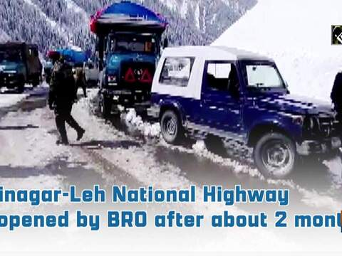 Srinagar-Leh National Highway reopened by BRO after about 2 months
