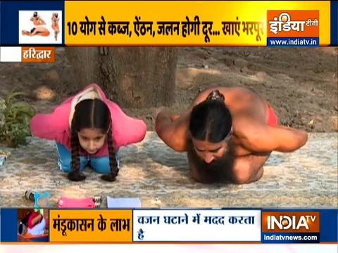 Yogasanas to treat stomach related problem by Swami Ramdev