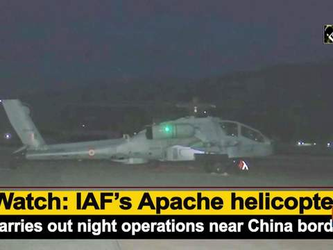 Watch: IAF's Apache helicopter carries out night operations near China border