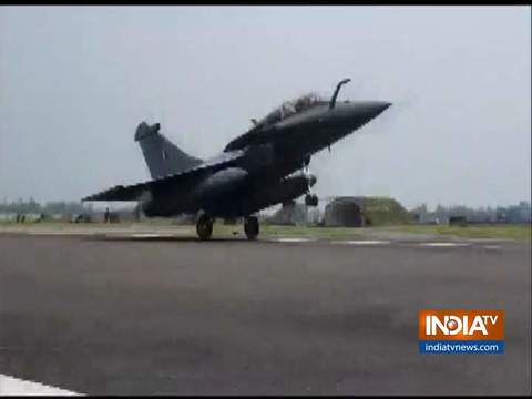 5 Rafale fighter jets land at IAF base in Ambala