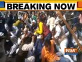 Police lathi charge during RLSP's Jan Aakrosh rally in Patna
