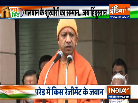 Republic Day 2021: UP CM Yogi Adityanath unfurls the Tricolour at his residence in Lucknow