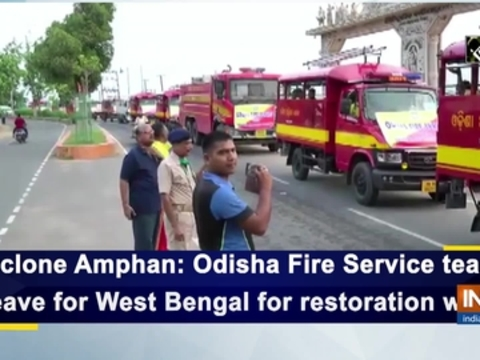 Cyclone Amphan: Odisha Fire Service teams leave for West Bengal for restoration work