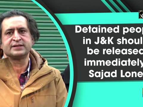 Detained people in JandK should be released immediately: Sajad Lone