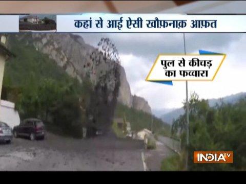 Aaj Ka Viral: Powerful mudslide crashes through village in Switzerland