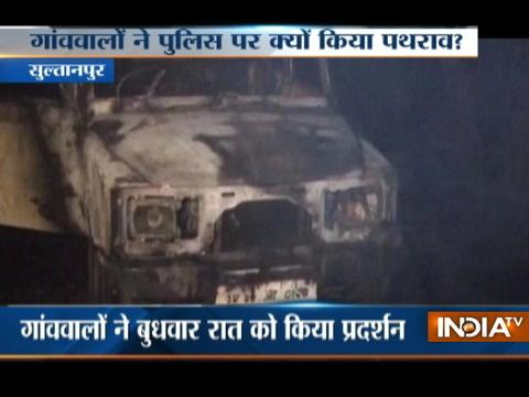 UP: Mob goes violent in Sultanpur, vehicles torched over irregularities in postmortem of a victim