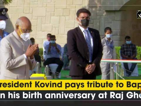President Kovind pays tribute to Bapu on his birth anniversary at Raj Ghat