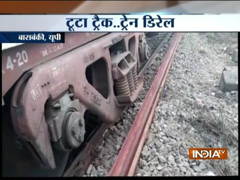 Goods train derail in Barabanki