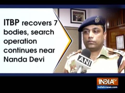 ITBP ने 7 शवों को बरामद किया, नंदा देवी के पास तलाशी अभियान जारी