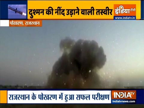 India test-fires anti-tank missile Nag in Pokhran