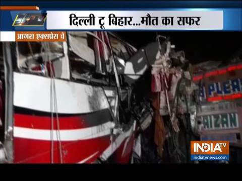 14 feared dead in bus-truck collision on Agra-Lucknow expressway
