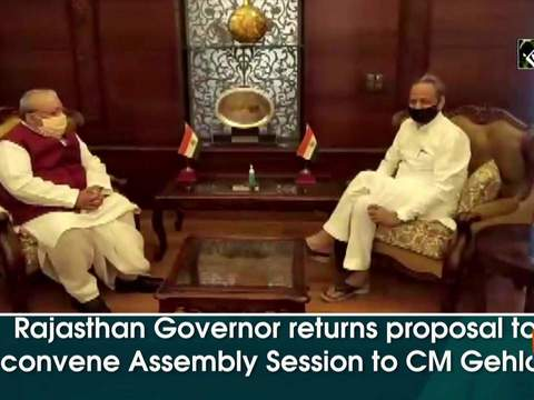 Rajasthan Governor returns proposal to convene Assembly Session to CM Gehlot