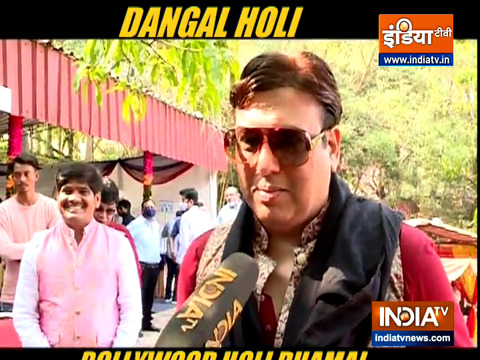 Dangal Holi: Govinda, Khesari Lal Yadav pour in their warm wishes for fans as they celebrate festival of colours