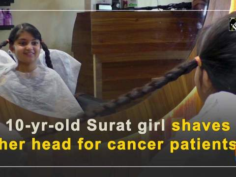 10-yr-old Surat girl shaves her head for cancer patients