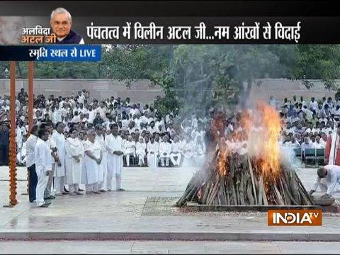 दिल्ली के स्मृति स्थल में पूर्व प्रधानमंत्री अटल बिहारी वाजपेयी को दी गयी अंतिम विदाई (पार्ट -2)