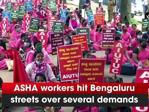 ASHA workers hit Bengaluru streets over several demands