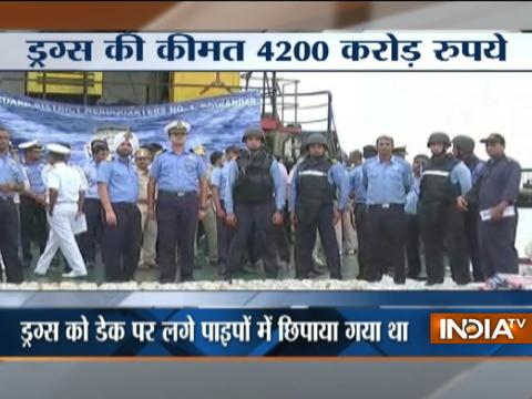 Gujarat Coast Guard seizes 1500 kg heroin worth ₹ 4200 crore