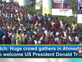 Watch: Huge crowd gathers in Ahmedabad to welcome US President Donald Trump