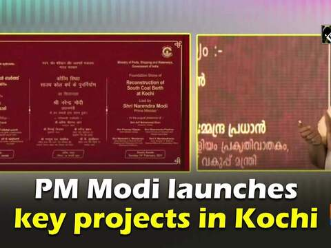 PM Modi launches key projects in Kochi