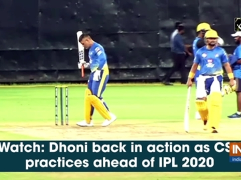 Watch: Dhoni back in action as CSK practices ahead of IPL 2020