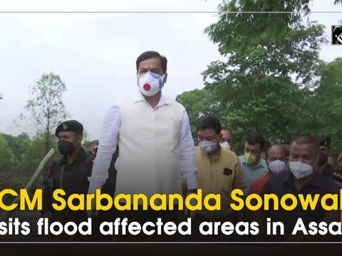 CM Sarbananda Sonowal visits flood affected areas in Assam