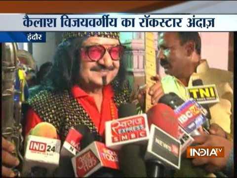 Kailash Vijayvargiya dresses up as a 'Rockstar' for an event in Indore
