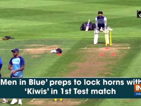 'Men in Blue' preps to lock horns with 'Kiwis' in 1st Test match