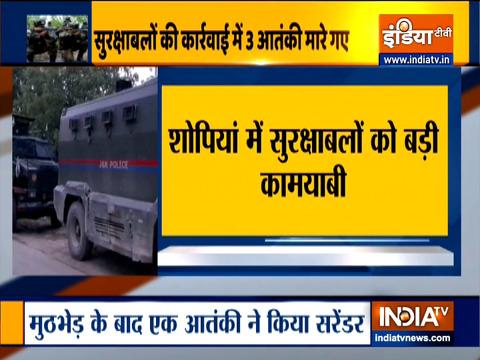जम्मू-कश्मीर के शोपियां में हुई मुठभेड़ में 3 आतंकी हुए ढेर