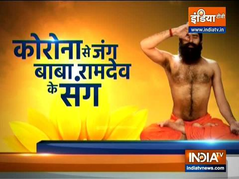 Swami Ramdev shares benefits of Partner Yoga