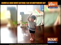 Saif Ali Khan and Kareena Kapoor's son Taimur waves tricolour flag