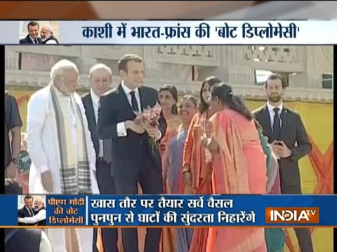 PM Modi, French President Macron in Varanasi, glimpse of preparations at Assi Ghat