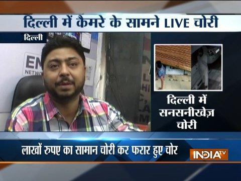 CCTV: Robbers loot electronic showroom in Delhi