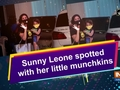 Sunny Leone spotted with her little munchkins