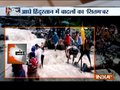 People risk their life while crossing flooded canal in Uttarakhand
