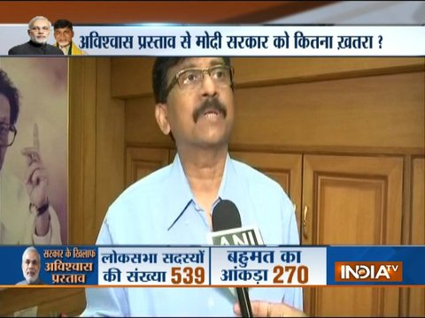 We have not decided yet on no-confidence motion, says Shiv Sena leader Sanjay Raut