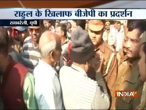 UP: Clash erupted between BJP and Congress workers during Rahul Gandhi's Raebareli visit