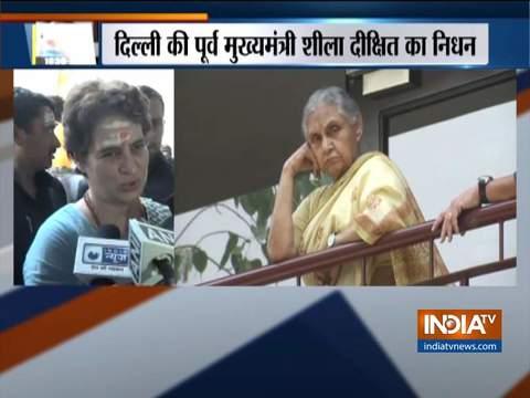 प्रधानमंत्री नरेन्द्र मोदी ने भी शीला दीक्षित के निधन पर दुख व्यक्त किया