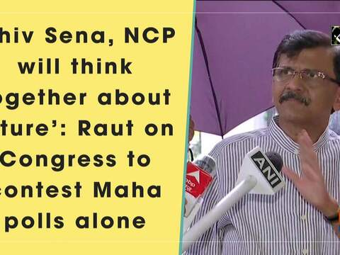 'Shiv Sena, NCP will think together about future': Raut on Congress to contest Maha polls alone