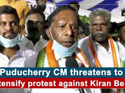 Puducherry CM threatens to intensify protest against Kiran Bedi