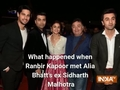What happened when Ranbir Kapoor met Alia Bhatt's ex Sidharth Malhotra