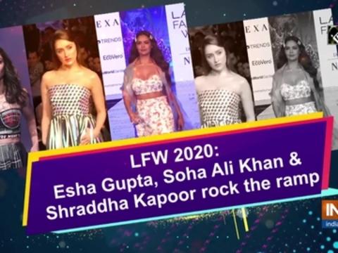 Esha Gupta, Soha Ali Khan and Shraddha Kapoor rock the ramp