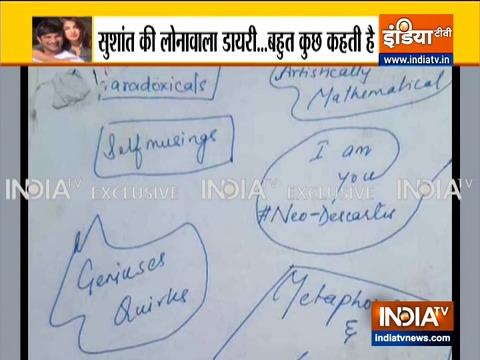 सुशांत सिंह राजपूत की 'लोनावला डायरी' बहुत कुछ कहती है..