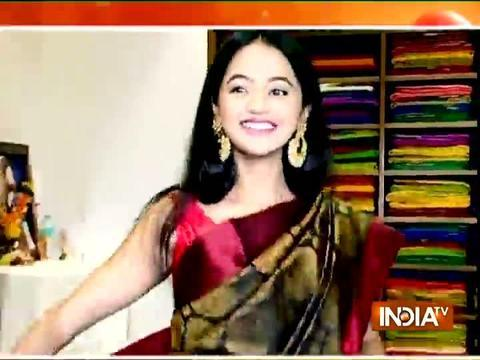Helly Shah goes shopping for sari with SBAS team