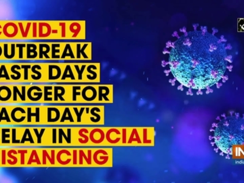 COVID-19 outbreak lasts days longer for each day's delay in social distancing