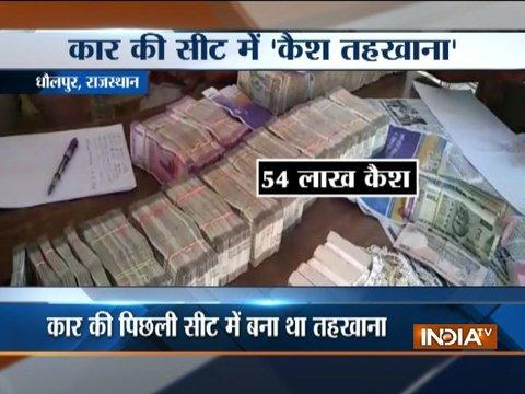 Rajasthan Police recovered Rs 54 lakh in cash and 4 kg silver ornaments from a car in Dholpur